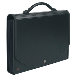 CLASSIFICATORE-A-13-TASCHE-33x26cm-IN-PPL-NERO-EXACASE