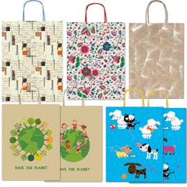 Shopper-carta-kraft-c/manici-in-carta-ritorta-26x34,5x12cm-fantasie-ass.-Sadoch